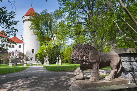 Konopiste castle park, Czech Republic. It was established in the 1280s and renovated between 1889 and 1894 by the Josef Mocker into a luxurious residence for Archduke Franz Ferdinand of Austria