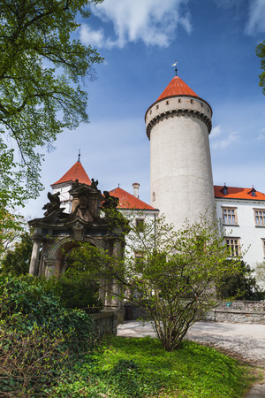 Castle Konopiste, Czech Republic. It was established in the 1280s and renovated between 1889 and 1894 by the architect Josef Mocker into a luxurious residence for Archduke Franz Ferdinand of Austria Stock Photo