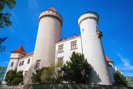 Konopiste, old castle in Czech Republic. It was established in the 1280s and renovated between 1889 and 1894 by the architect Josef Mocker into a residence for Archduke Franz Ferdinand of Austria