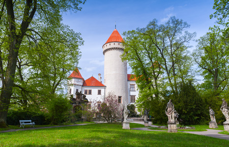 Konopiste castle. It was established in the 1280s and renovated between 1889 and 1894 by the architect Josef Mocker into a luxurious residence for Archduke Franz Ferdinand of Austria