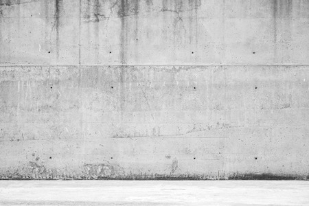 Abstract empty architectural background, concrete wall and floor, front view