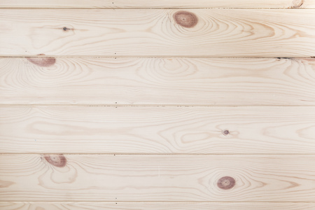 New varnished wooden wall with knots pattern. Frontal flat background photo texture Фото со стока