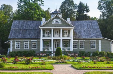 Pskov Oblast, Russia - July 13, 2014: Manor of Hannibals. Petrovskoye village Publikacyjne