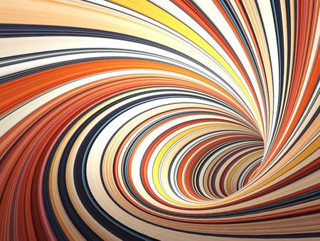 Abstracte cg achtergrond, kleurrijke verdraaide tunnel, 3d illustratie Stockfoto