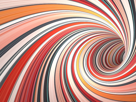 Abstract digital graphic background, colorful empty twisted bent tunnel, 3d illustration