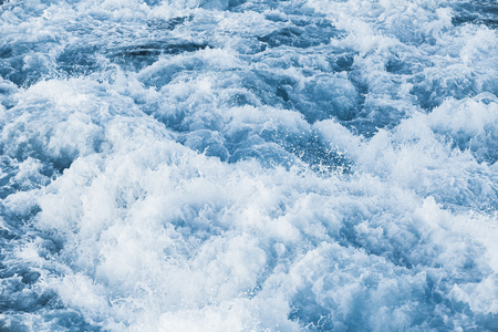 Stormy sea water with splashes and foam, natural background photo texture Stock Photo