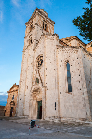Fermo Cathedral west front. Roman Catholic cathedral in Fermo, region of Marche, Italy Stock Photo