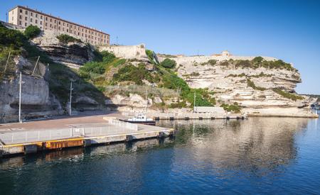 Main port of Bonifacio town, Corsica island, France