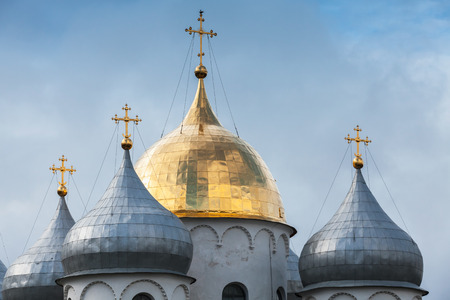 Domes of St. Sophia Cathedral, Novgorod, Russia