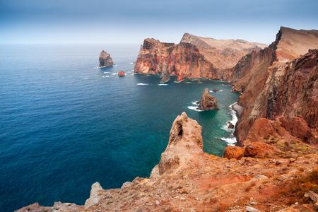 Ponta de Sao Laurenco. Coastal landscape of Portuguese island Madeira