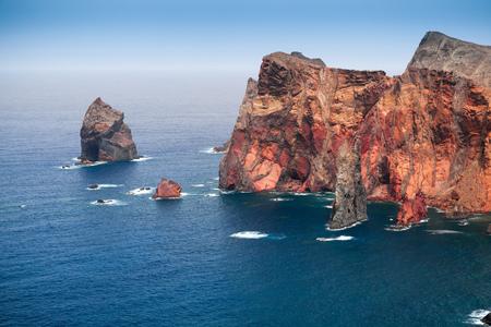 Ponta de Sao Laurenco. Coastal landscape of Madeira island, Portugal
