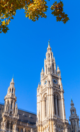 vienna,hall,city,wien,town,austria,rathaus,old,architecture,building,europe,landmark,austrian,blue,sky,tourism,gothic,touristic,cityhall,townhall,famous,travel,tower,site,outdoor,history,exterior,tall,capital,city hall,town hall,day,heritage,decoration,house,national,facade,vertical,autumn,trees,leaves,fall,historic,destination