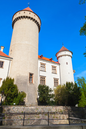 Konopiste castle, Czech Republic. It was established in the 1280 and renovated between 1889 and 1894 by the architect Josef Mocker into residence for Archduke Franz Ferdinand of Austria Editorial