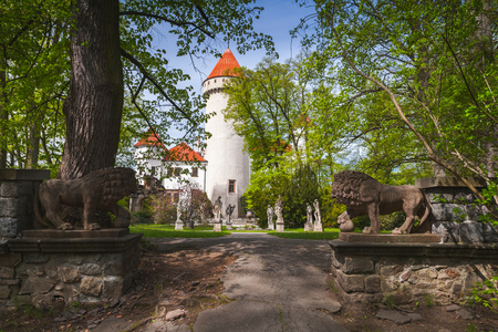 Konopiste, Czech Republic. The castle was established in the 1280 and renovated between 1889 and 1894 by the architect Josef Mocker into luxurious residence for Archduke Franz Ferdinand of Austria Editorial