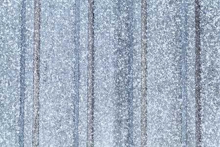 Gray galvanized ridged steel sheet, flat background photo texture