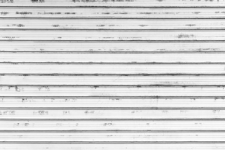 Grungy white metal wall, frontal background photo texture Archivio Fotografico