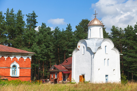 Church of the Nativity of the Theotokos on Peryn in the environs of Veliky Novgorod is one of the city's oldest churches, dating from the 1220s Фото со стока