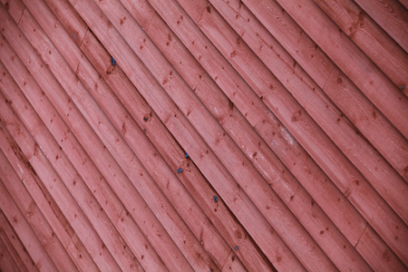 Old red wooden wall, background photo with selective focus Stok Fotoğraf