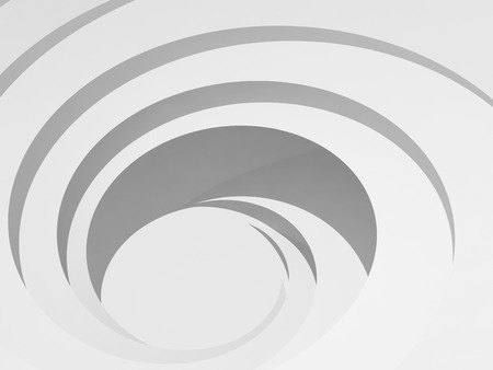 White spiral hole, background pattern. Abstract digital illustration, 3d render 스톡 콘텐츠