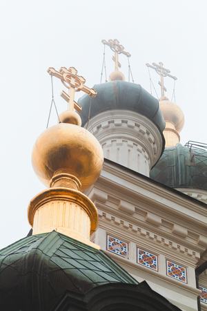 Domes of the Church of Christs Resurrection. It is a popular tourist attraction on the outskirts of Yalta, Crimea