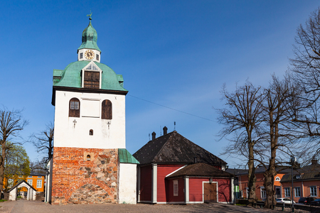 Porvoo cathedral in Porvoo town, Finland. It was built in the 15th century