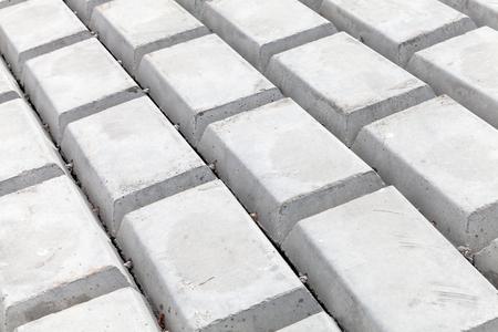 White concrete blocks. Industrial flooring background photo Stock Photo