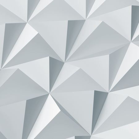 Light blue digital polygonal pattern. Abstract low-poly cg background texture, square 3d render illustration Imagens