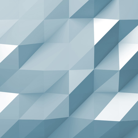 Blue digital polygonal pattern. Abstract background texture, square 3d illustration Imagens