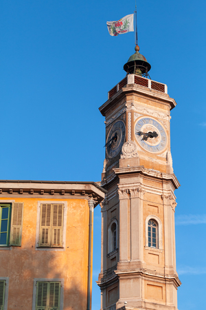 The Tower of St. Francois in the city of Nice. French Riviera, France