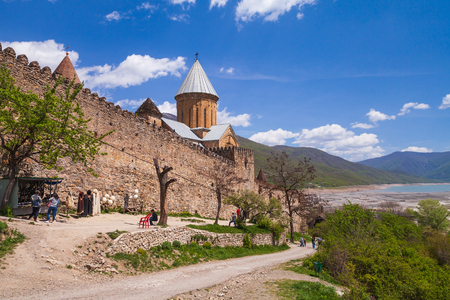 Ananuri castle complex located on the Aragvi River in Georgia. It was a castle of the Dukes of Aragvi, a feudal dynasty which ruled the area from the 13th century Reklamní fotografie