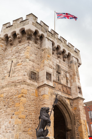 The Bargate is a medieval gatehouse in the city of Southampton, England. Constructed in Norman times as part of the Southampton town walls, it was the main gateway to the city