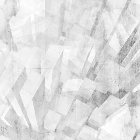 Abstract white city background. Digital model with geometric skyscrapers and concrete texture, 3d rendering illustration Stock fotó