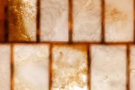 Natural onyx wall panels with back lit illumination, close-up background photo texture