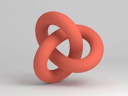 Geometrical representation of a torus knot shape.