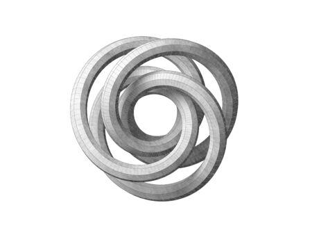 Torus knot geometrical representation. Stok Fotoğraf