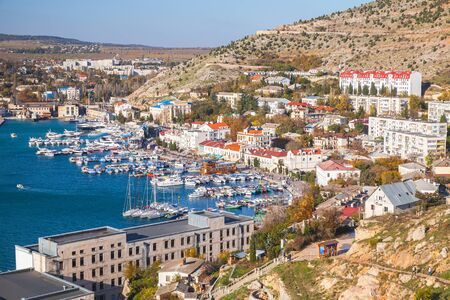 Balaklava landscape, it is a settlement on the Crimean Peninsula and part of the city of Sevastopol Banque d'images