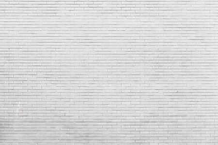 New white brick wall, frontal view, small scale background photo texture