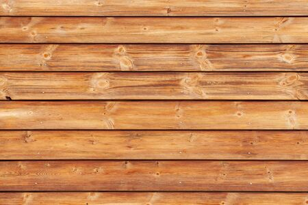 Natural wooden wall made of toned pine tree planks. Frontal flat background photo texture Archivio Fotografico - 130137078