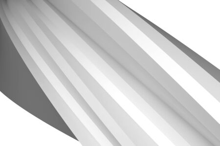 Abstract architectural spiral structure, helix shape fragment isolated on white background, 3d rendering illustration