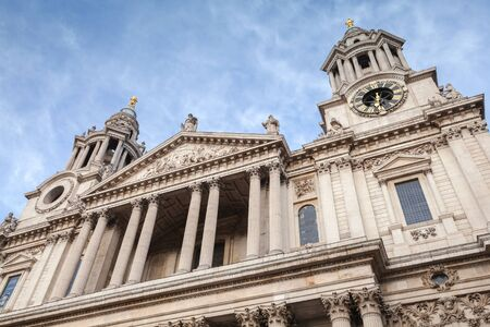 Main facade of The St Paul Cathedral, London, United Kingdom
