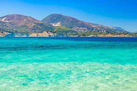 Summer Mediterranean beach view. Zakynthos island, Greece