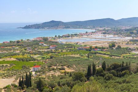 Zakynthos island, Greece. Summer landscape of Greek island in the Ionian Sea, popular tourist destination for summer vacation Standard-Bild