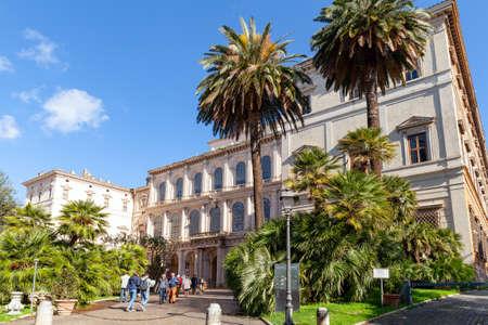 Rome, Italy - February 13, 2016: Tourists are near Palazzo Barberini at sunny day