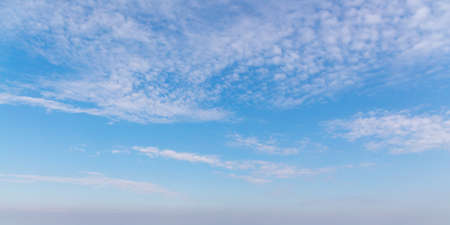 White clouds in blue sky at daytime, natural background photo Imagens