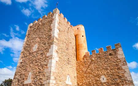 Walls of The Fortaleza Ozama or Ozama Fortress, it is a sixteenth-century castle in Santo Domingo, Dominican Republic Editorial