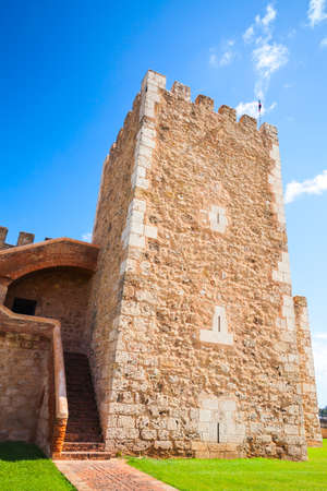 Tower of The Fortaleza Ozama or Ozama Fortress, it is a sixteenth-century castle in Santo Domingo, Dominican Republic