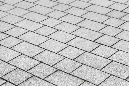 Gray concrete cobble road background photo texture