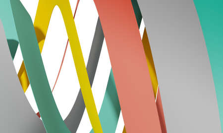 Abstract cgi background with colorful spiral stripes, 3d rendering illustration Zdjęcie Seryjne