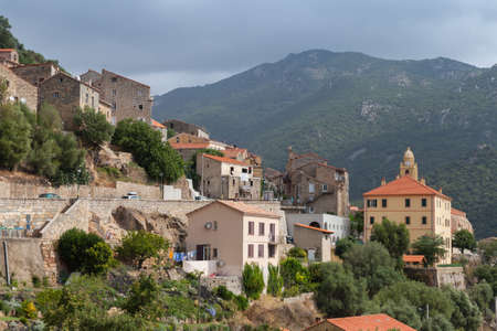 Olmeto landscape on a summer day, it is a commune in the Corse-du-Sud department of France on the island of Corsica