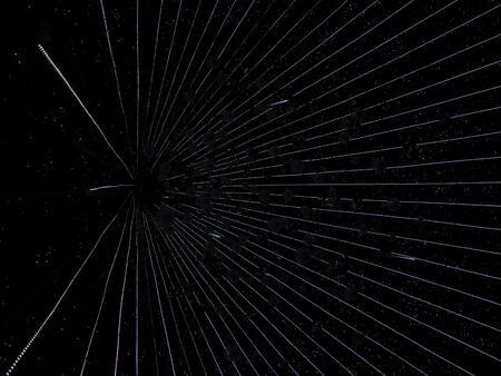 hyperspace: Space travel at hyperspace speeds (portrait view)